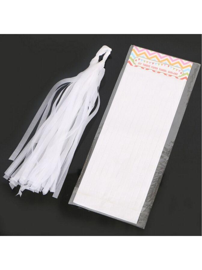 Помпон тассел бумага тишью белый