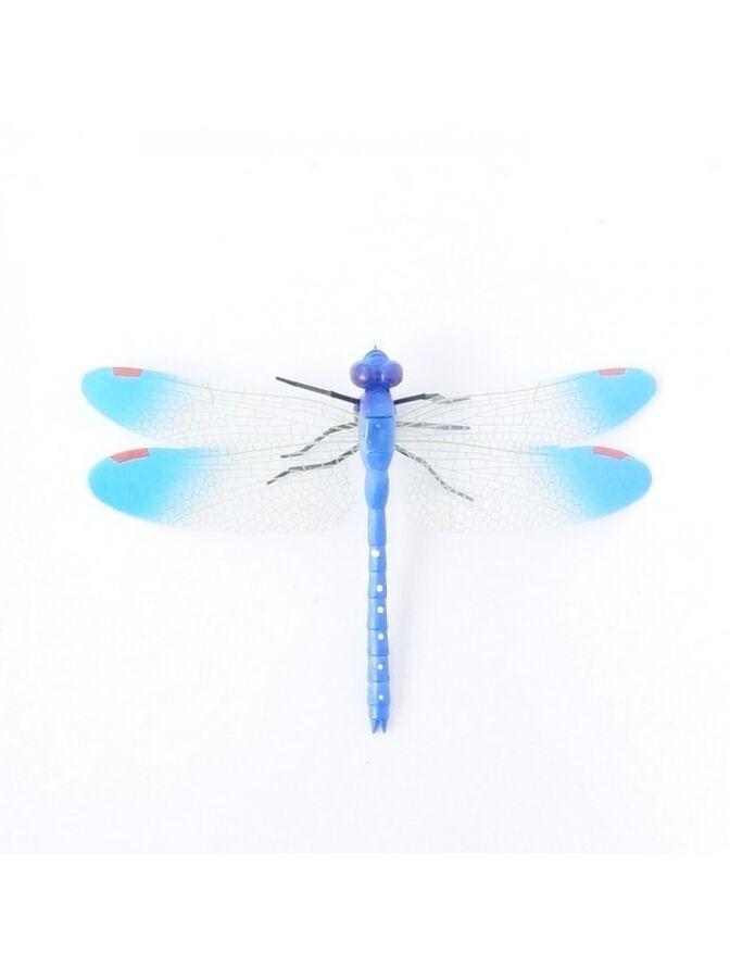 Стрекоза на магните 9 х 14 см пластик цвет синий
