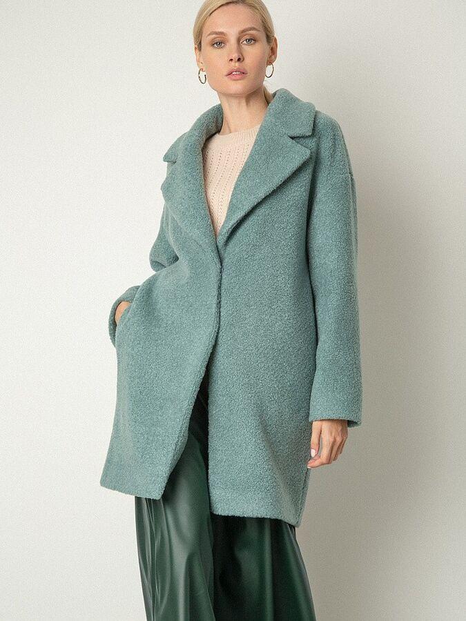 Пальто из структурной ткани R066/gurama