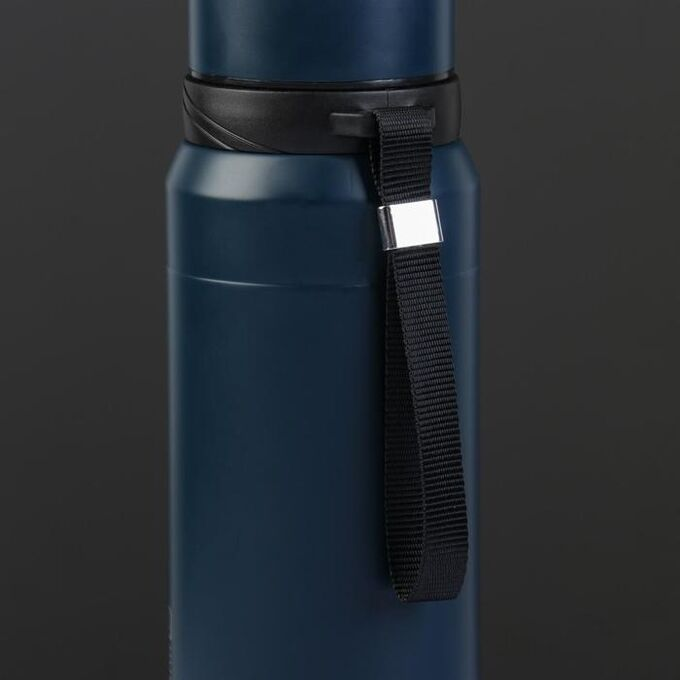 """Термос """"Основа"""" 750 мл, сохраняет  тепло 12 ч, с ситчком, синий"""