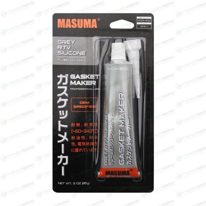 Герметик прокладка MASUMA (высокотемпературный силиконовый), серый, туба 85гр