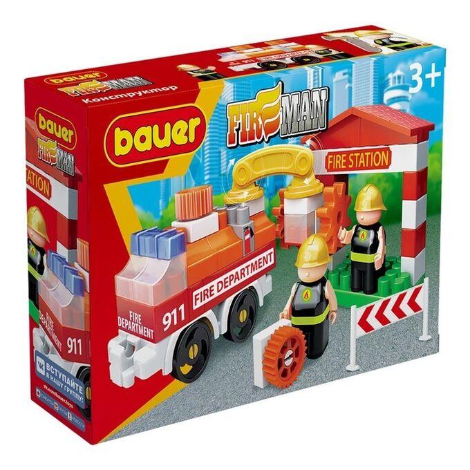"""Bauer.739 Конструктор """"Fireman"""" набор пожарная машина и пожарный гидрант РРЦ 449 руб"""