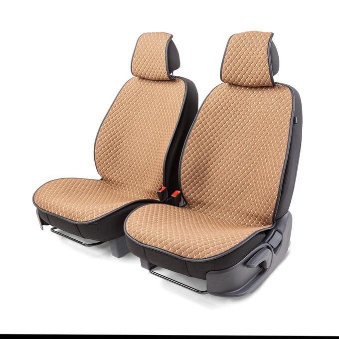 "Накидки на передние сиденья ""Car Performance"", 2 шт., fiberflax CUS-1052 BR/BE"