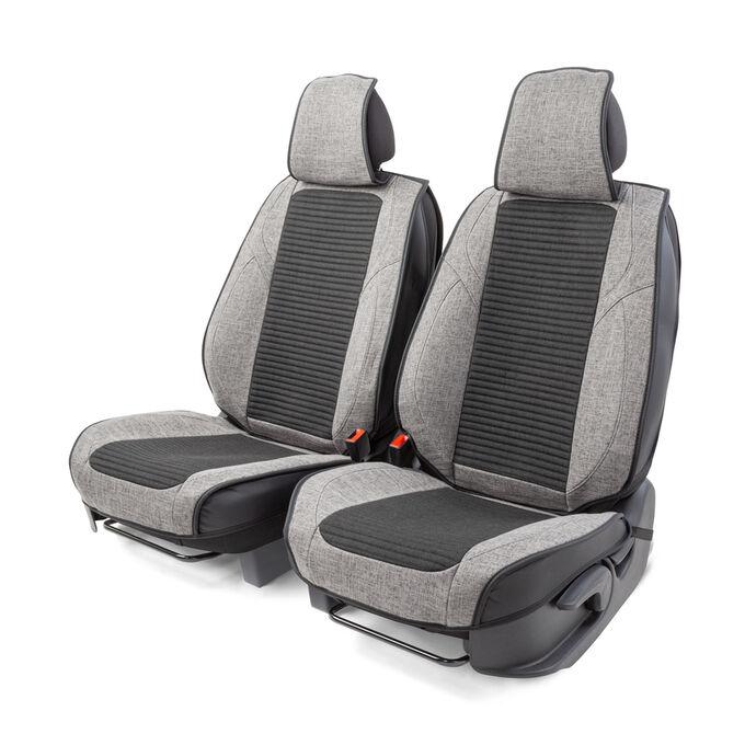 """Каркасные 3D накидки на передние сиденья """"Car Performance"""", 2 шт., fiberflax CUS-3024 BK/GY"""