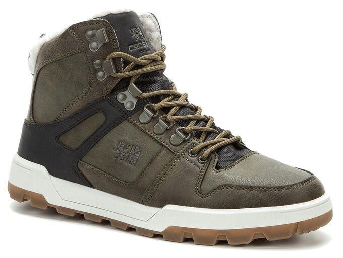 408597/01-01 хаки/черный иск.кожа/оксфорд мужские ботинки