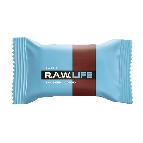 """Конфета """"Трюфель с солью"""" Raw Life"""