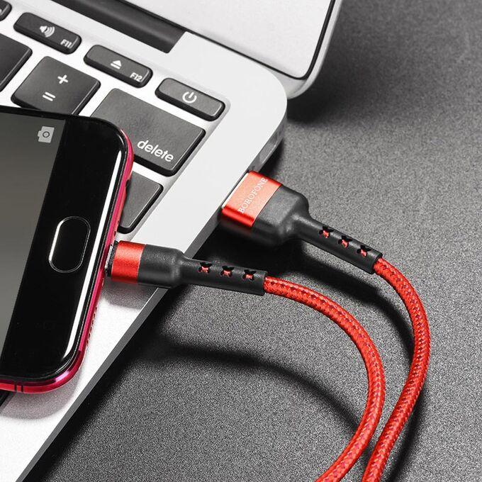USB кабель Borofone BX34 Micro USB / 2.4A