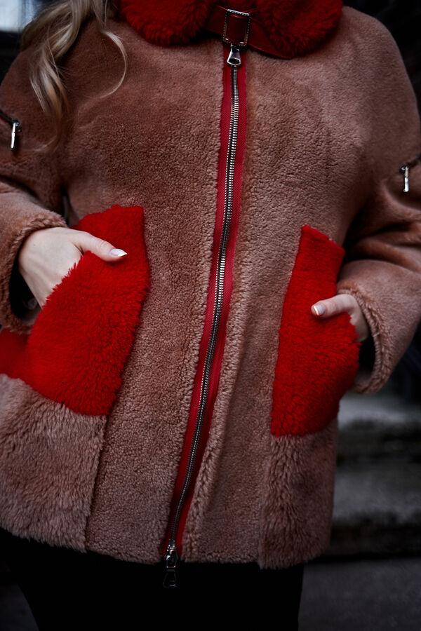 """Куртка из шерсти керли цвет """"горчица"""""""