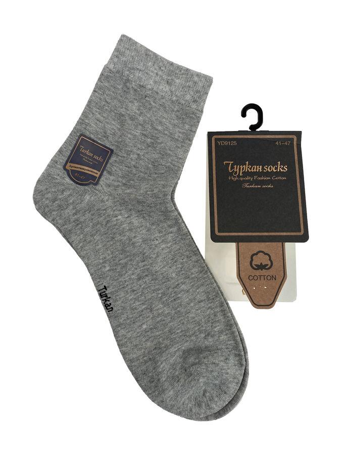 Носки мужские хлопковые, цвет светло-серый