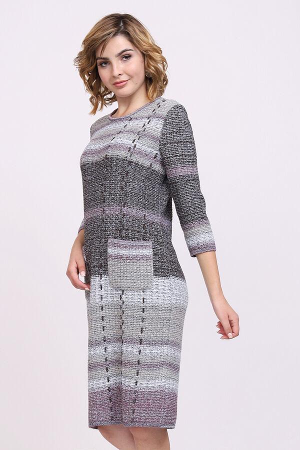 Платье 3119 М  шоколадно-лиловый микс