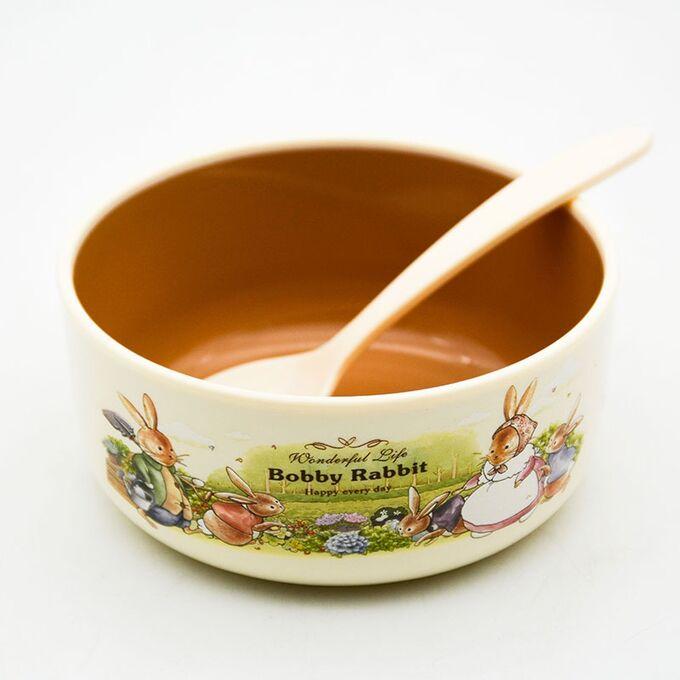 Набор детской посуды Bobby Rabbit / 4 предмета