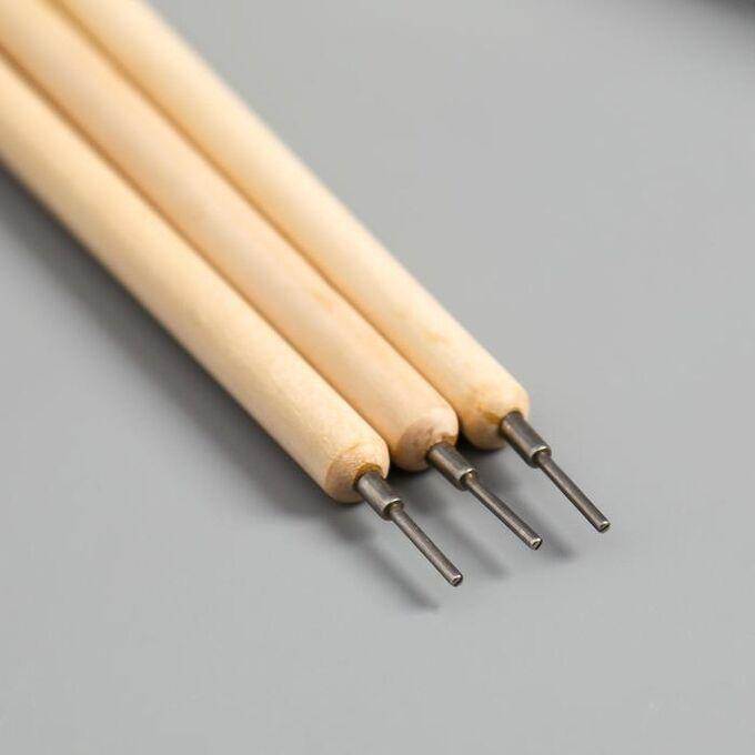 Набор инструментов для эмбоссинга, 3 шт