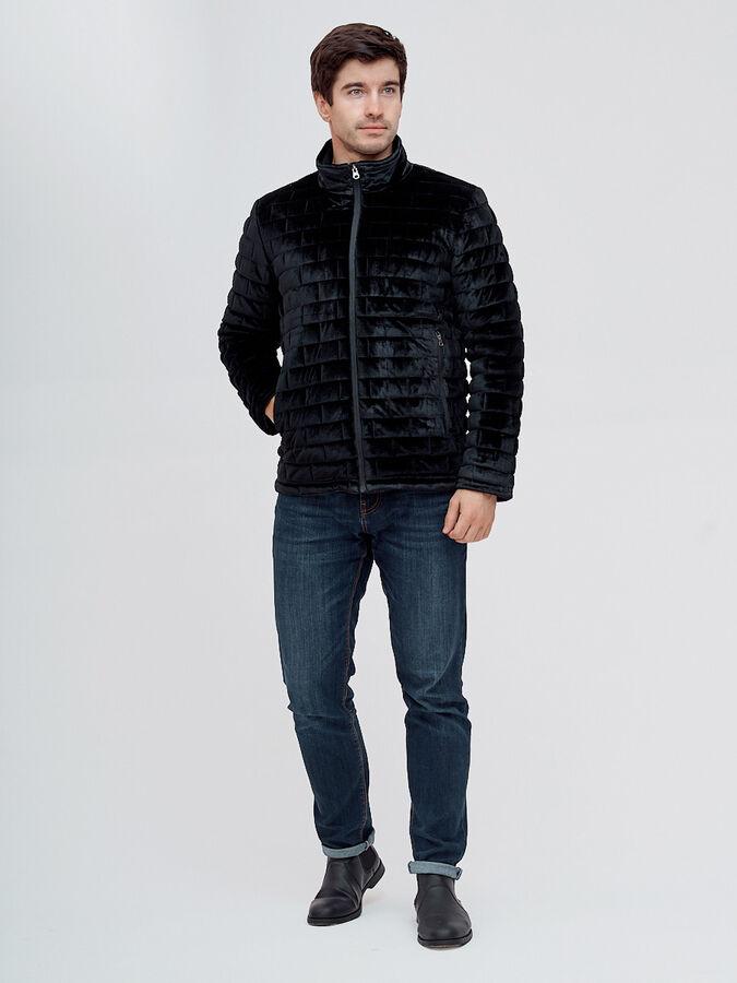 Куртка велюровая классическая Valianly черного цвета 93352Ch