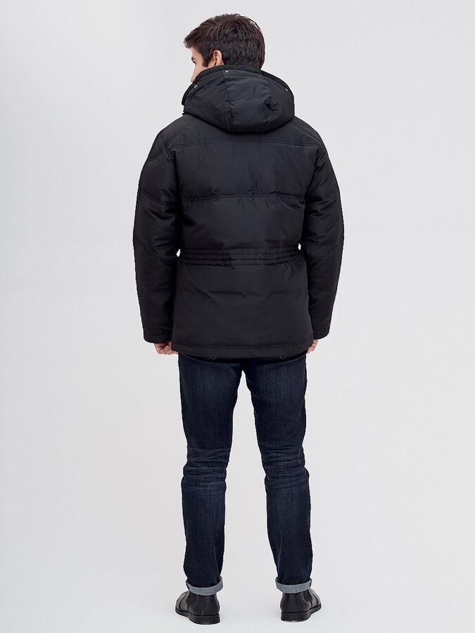 Пуховик классический Valianly черного цвета 8041Ch