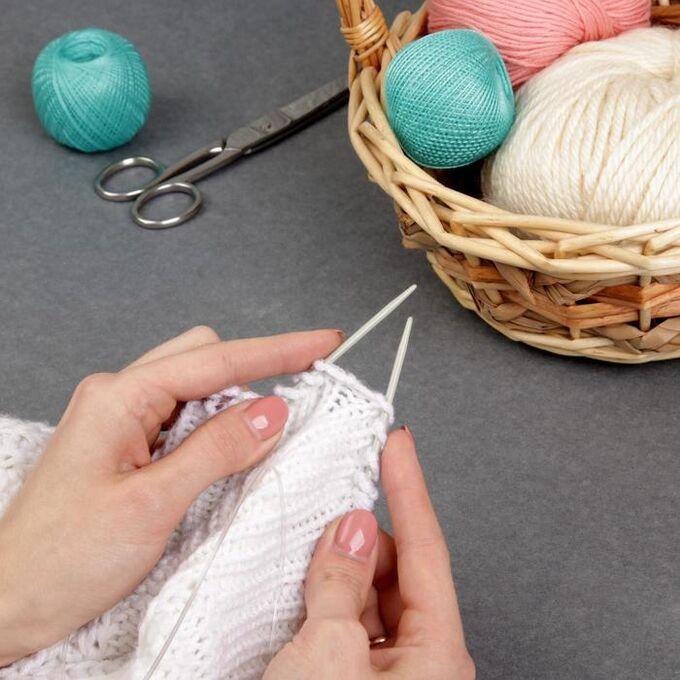 Спицы для вязания, круговые, с тефлоновым покрытием, с пластиковой леской, d = 3 мм, 14/80 см