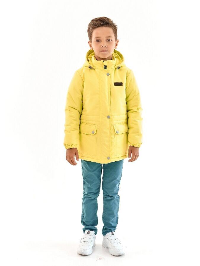 Парка зимняя для мальчика Мембрана желтый