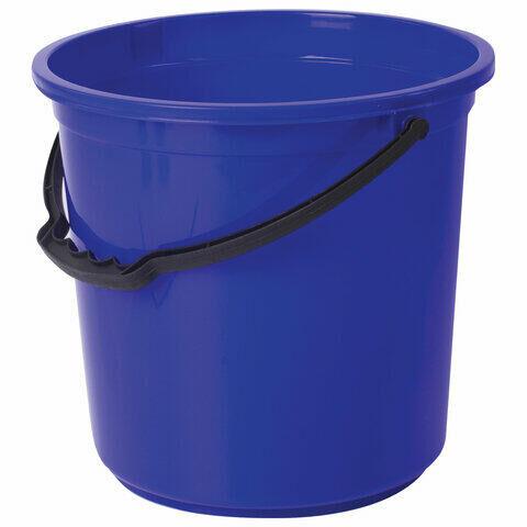 Ведро 12 л, без крышки, пластиковое, пищевое, с узором, цвет синий, мерная шкала, LAIMA, 603894