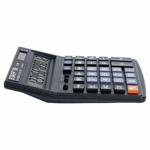 Калькулятор настольный STAFF STF-444-12 (199x153 мм), 12 разрядов, двойное питание, 250303