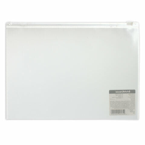 "Папка-конверт на молнии B5 (289х214 мм), прозрачная, 0,14 мм, ERICH KRAUSE ""Fizzy"", 44418"