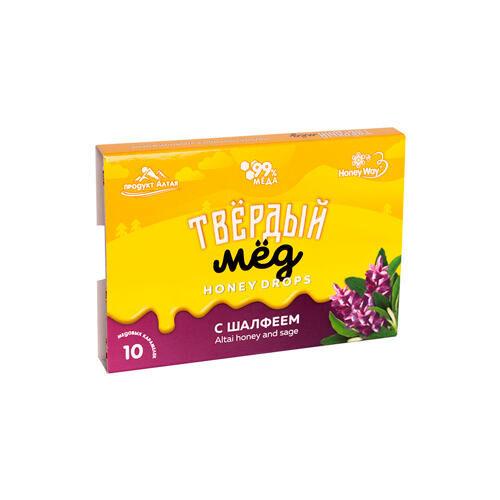 Мёд твёрдый с шалфеем HoneyWay