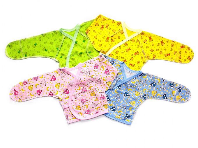 Распашонка Количество в упаковке: 1; Артикул: 011 К; Ткань: Кулирка; Состав: 100% Хлопок; Цвет: Разноцветный Скачать таблицу размеров                                                 Распашонка на зап