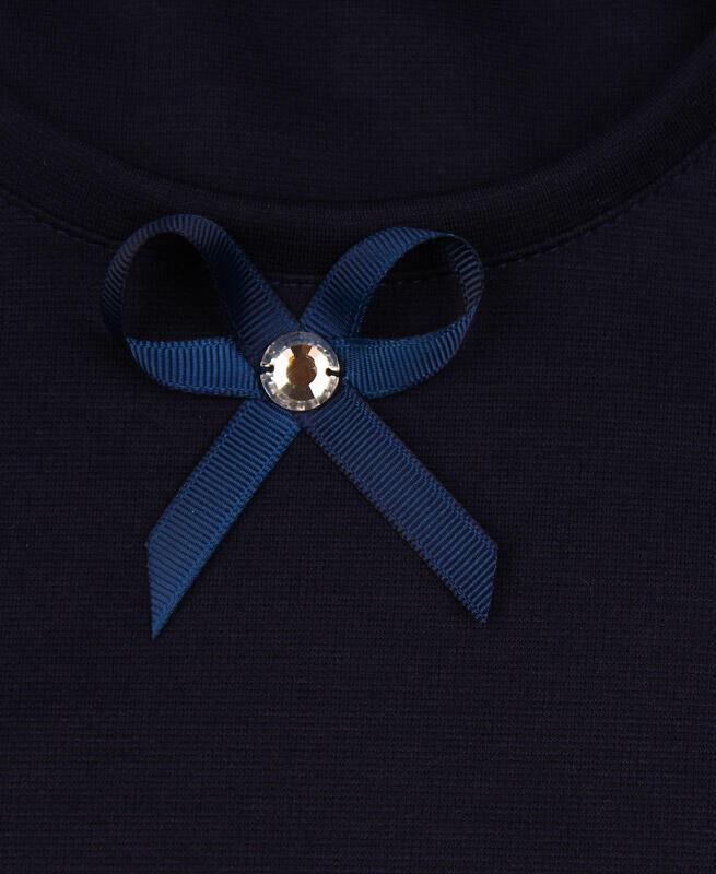Школьный синий жилет для девочки Цвет: синий