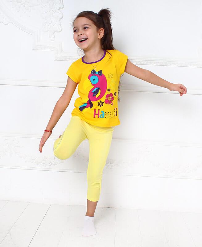 Желтая футболка для девочки Цвет: жёлтый