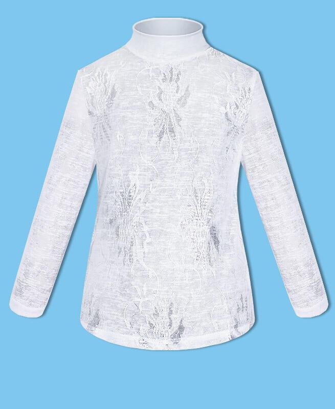 Белая водолазка (блузка)для школы для девочки Цвет: белый