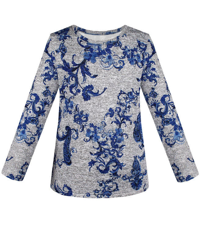 Серый джемпер (блузка) для девочки Цвет: серый
