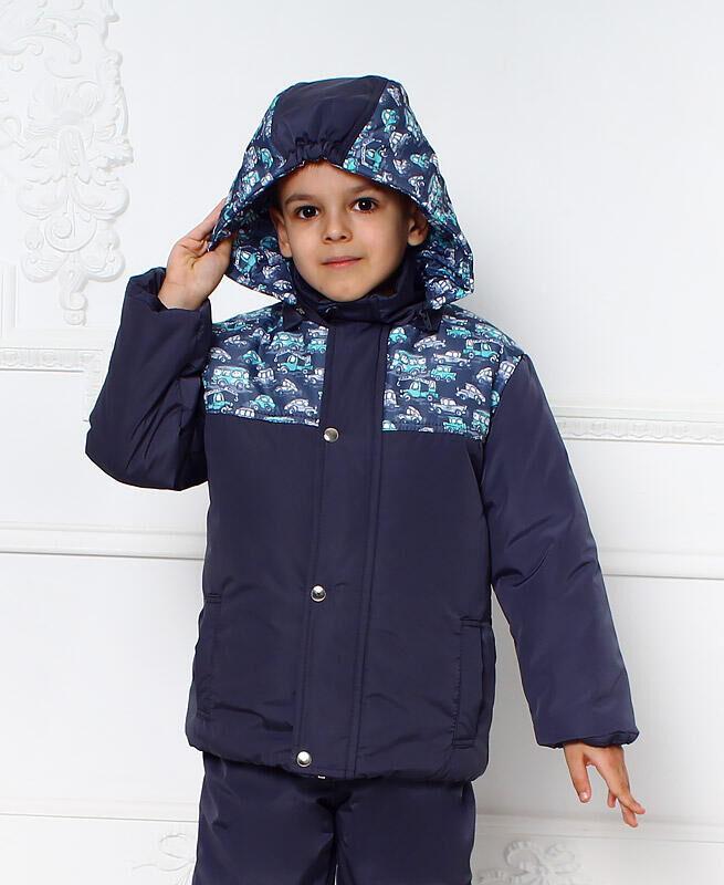 Зимняя куртка для мальчика Цвет: графит