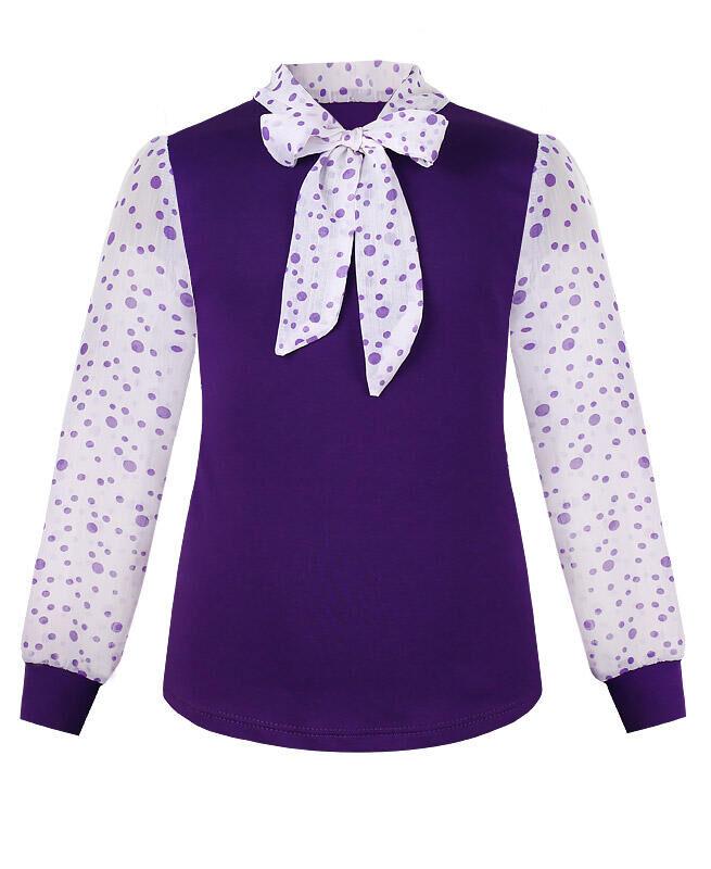 Фиолетовый джемпер (блузка) для девочки Цвет: фиолетовый хлопок