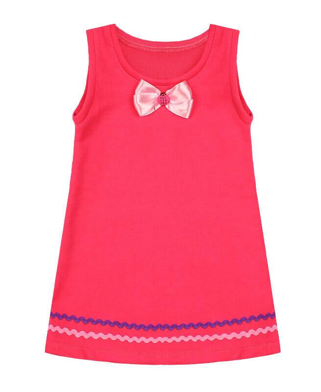 Розовый сарафан для девочки с бантиком Цвет: розовый