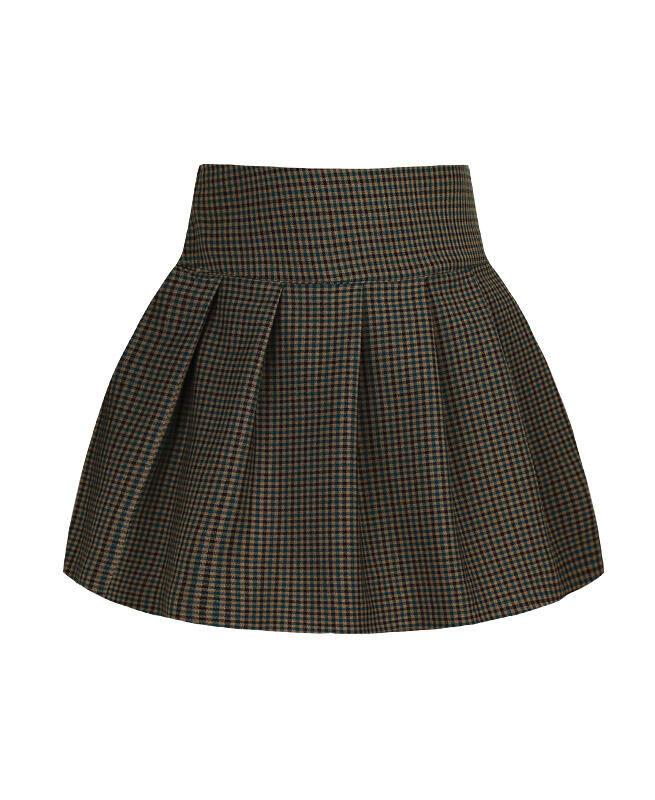 Школьная юбка в клетку для девочки Цвет: зелёный