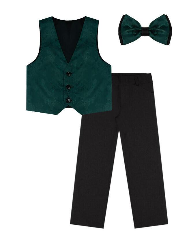 Костюм нарядный для мальчика Цвет: чёрн+т.изумр