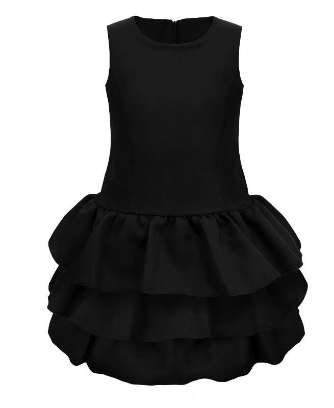 Чёрный школьный сарафан для девочки Цвет: черный