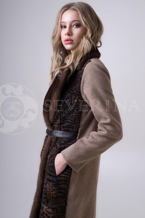 Пальто каракуль + норка
