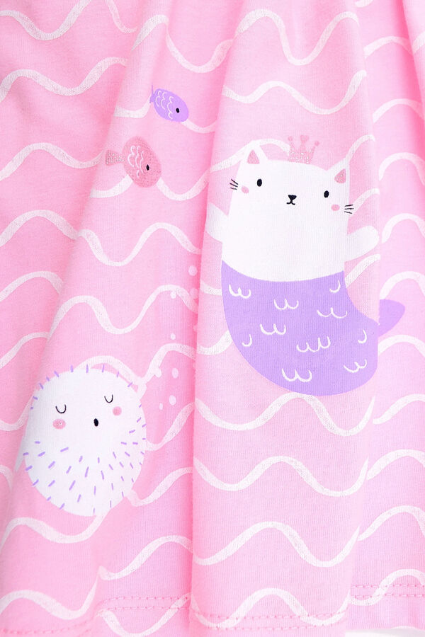 Платье(Осень-Зима)+girls (розовое облако, волны)