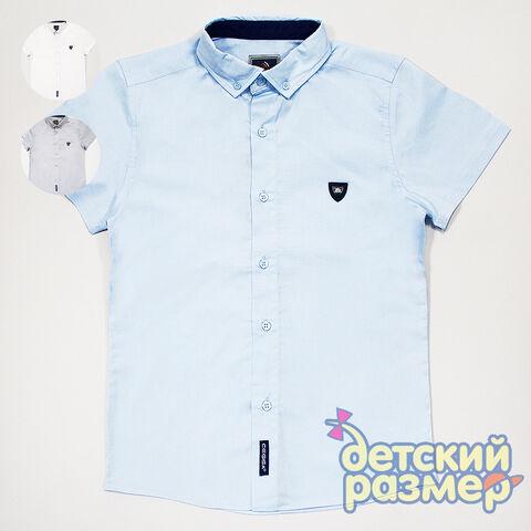 Рубашка Рубашка с коротким рукавом от популярного бренда Cegisa:  - выполнена из качественной и легкой х/б ткани  - застегивается на пуговицы по всей длине  - украшена маленькими нашивками с изображен