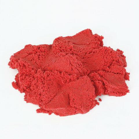 Песок для лепки кинетический ЮНЛАНДИЯ, красный, 500 г, 2 формочки, ведерко, 104992