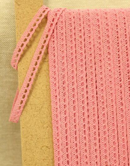 Кружево хлопок-90%, п/э-10%, 8мм, цв.розовый