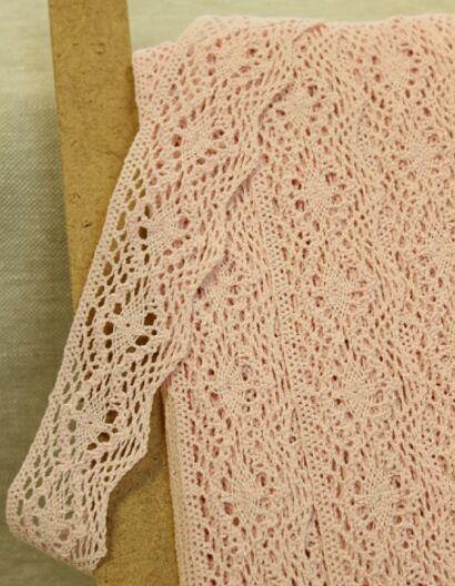 Кружево хлопок-90%, п/э-10%, 42мм, цв.нежно-розовый