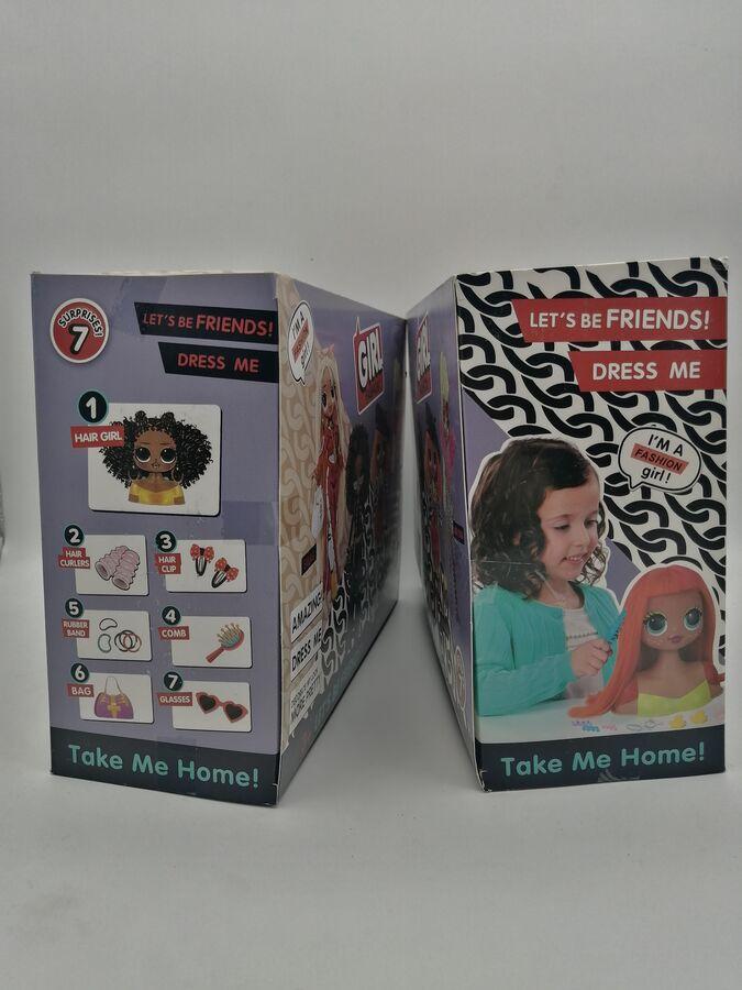 Кукла-манекен для создания причесок 3+