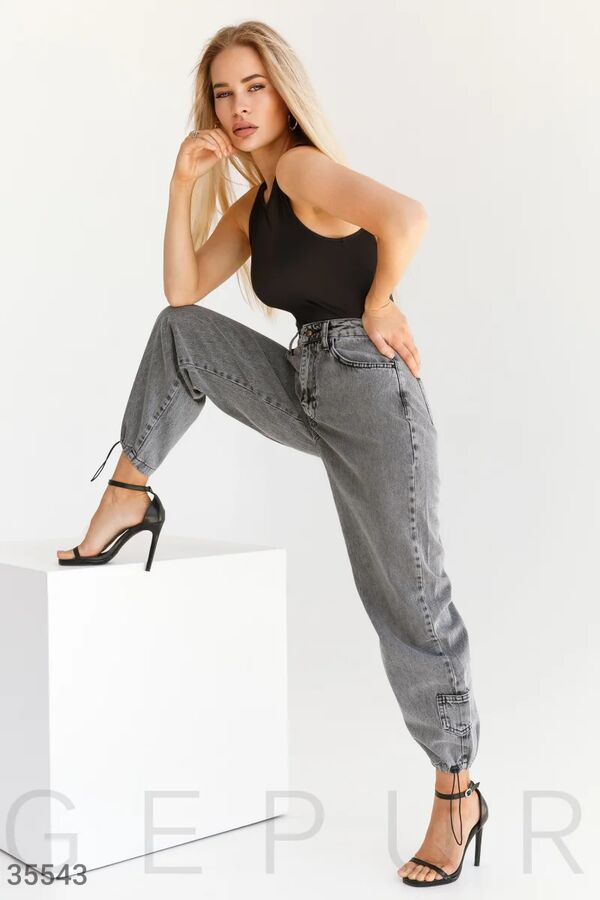 Джинсовые брюки-джоггеры