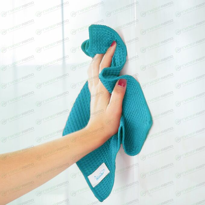 Салфетка Kolibriya Nimbi-50, вафельная, для стекол, 300x300мм, синяя, арт. Nim-0510.blu