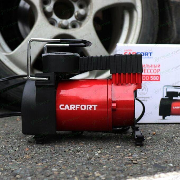 Компрессор автомобильный Carfort Tornado 580, 12В, 10А, 35л/мин, 10атм