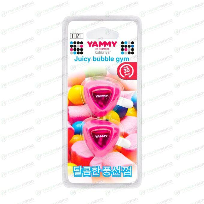 "Ароматизатор на дефлектор Yammy ""Bubble Gum""  жидкий"