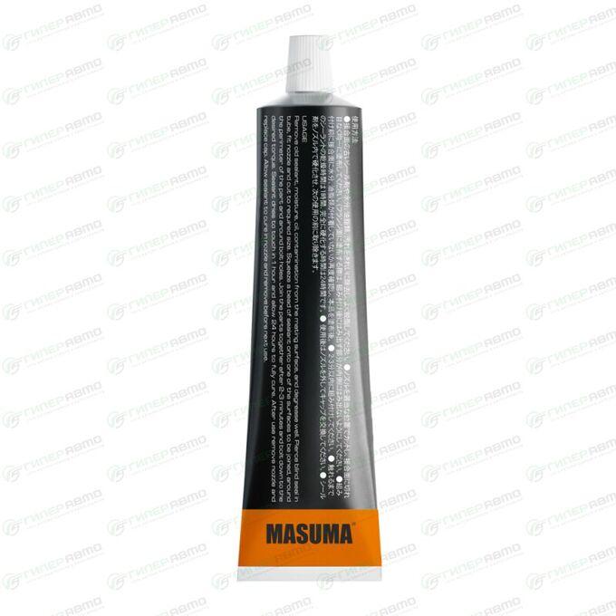 Герметик-прокладка Masuma силиконовый, термостойкий, чёрный, туба 85г