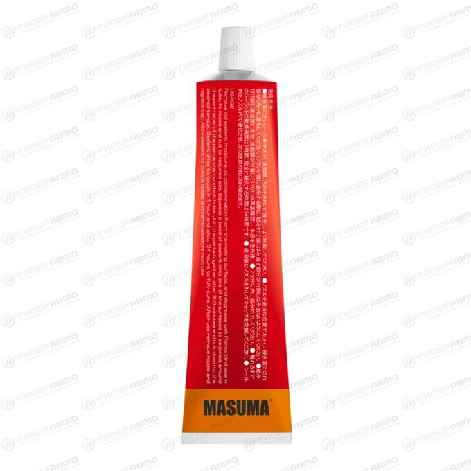 Герметик прокладка MASUMA (высокотемпературный силиконовый), красный, туба 85 гр.
