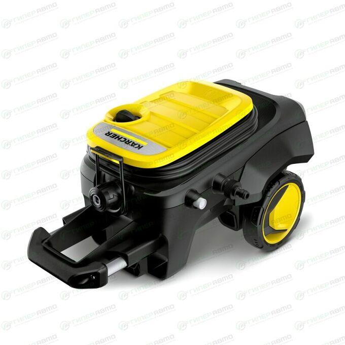 Мойка высокого давления Karcher K5 Compact, 220В, 2.1кВт, 145бар, 500л/ч, длина шланга 8м, с насосом для забора воды, на колёсах, арт. 1.630-720.0/1.630-750.0