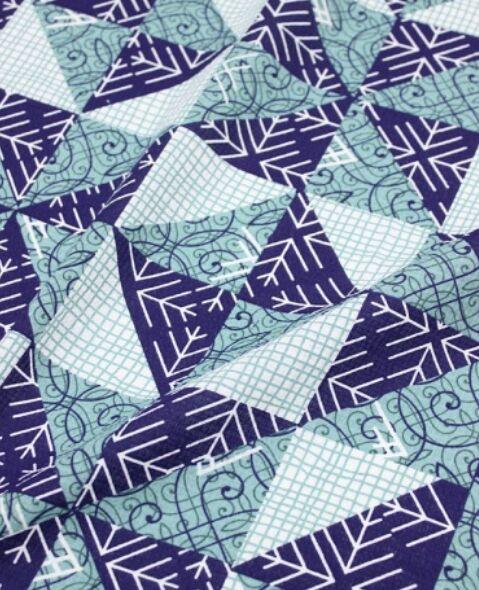 """Вафельная ткань """"Лоскутная геометрия"""" хлопок-100%, шир-1.5м, 165гр/м.кв"""